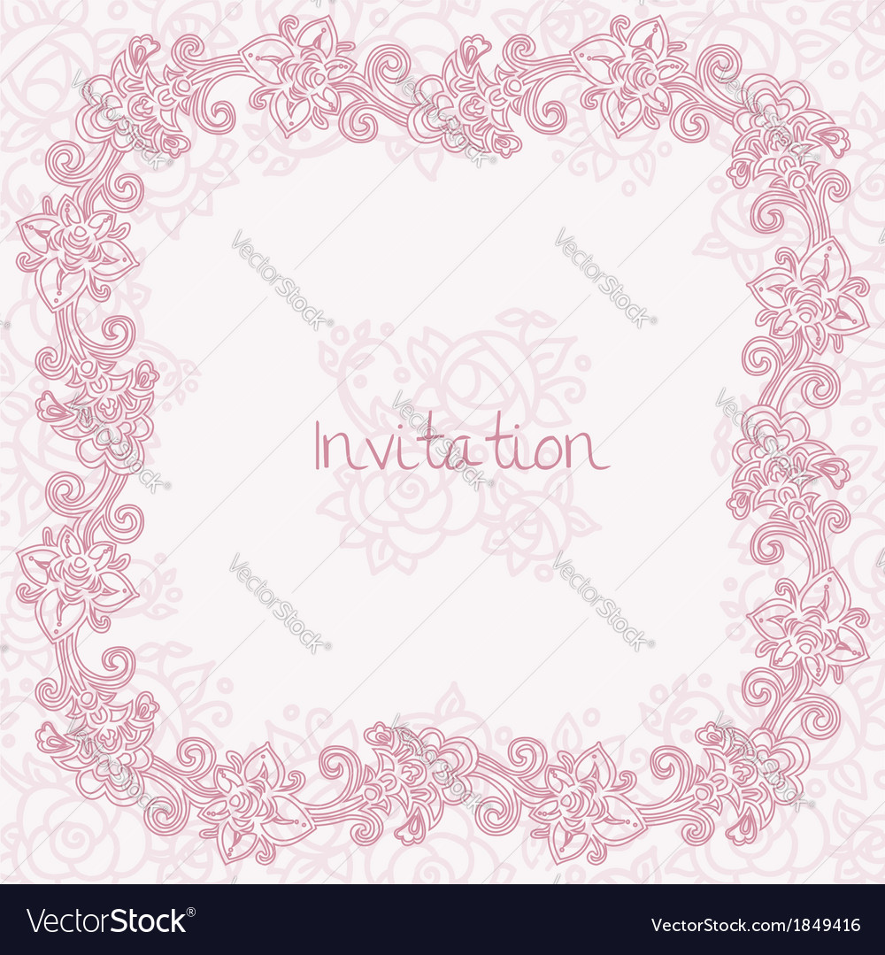 Ornate rose card vector | Price: 1 Credit (USD $1)