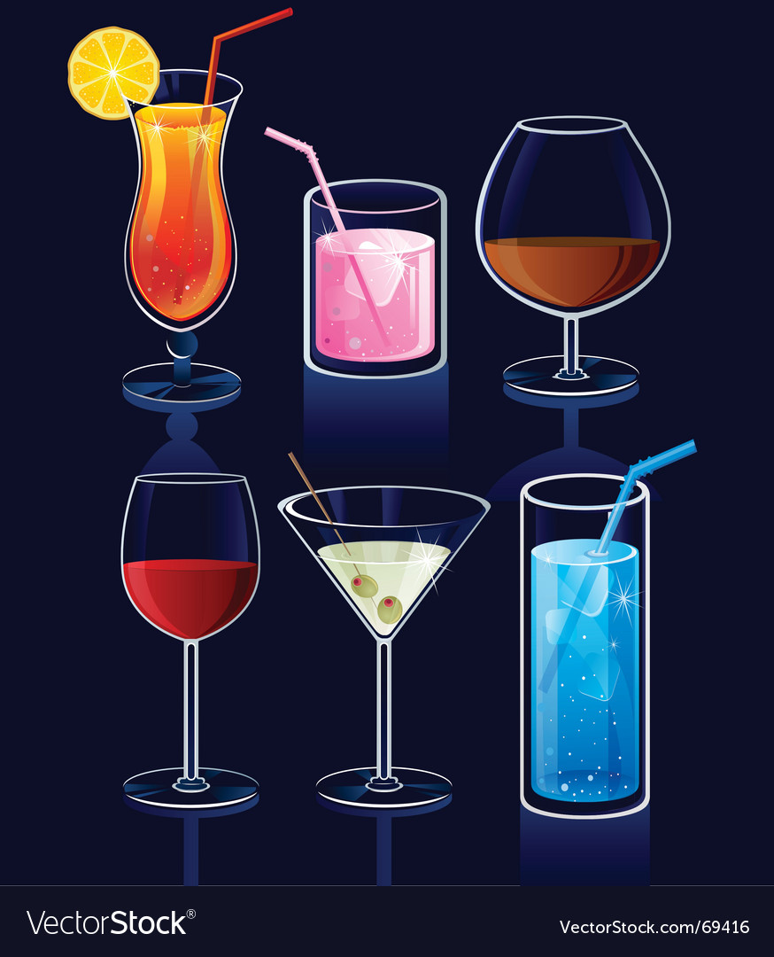 Set of cocktails vector | Price: 3 Credit (USD $3)