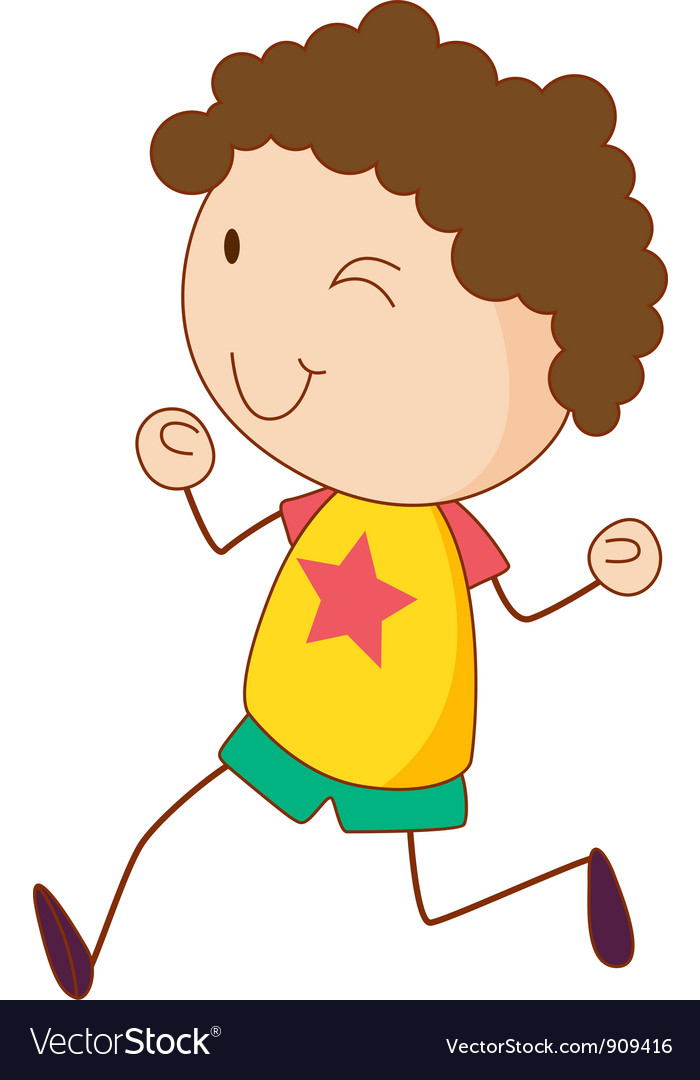 Simple child cartoon vector | Price: 3 Credit (USD $3)