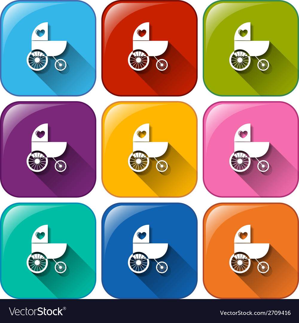Stroller icons vector | Price: 1 Credit (USD $1)