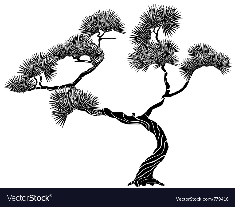 Tree pine silhouette vector | Price: 1 Credit (USD $1)