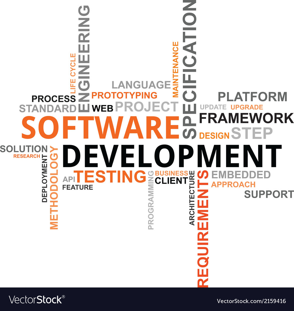 Word cloud software development vector | Price: 1 Credit (USD $1)