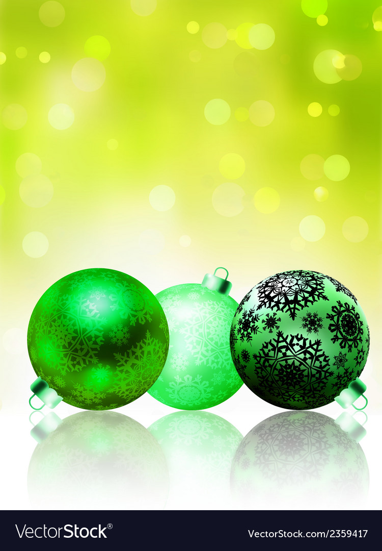 Beautiful green happy christmas card eps 8 vector | Price: 1 Credit (USD $1)