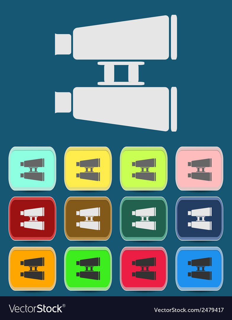 Binoculars flat icon single icon vector | Price: 1 Credit (USD $1)