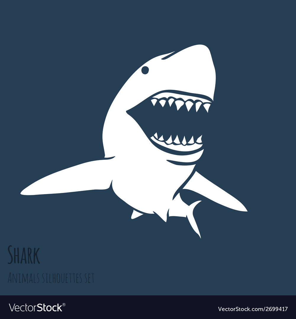 Danger shark silhouettes set vector | Price: 1 Credit (USD $1)