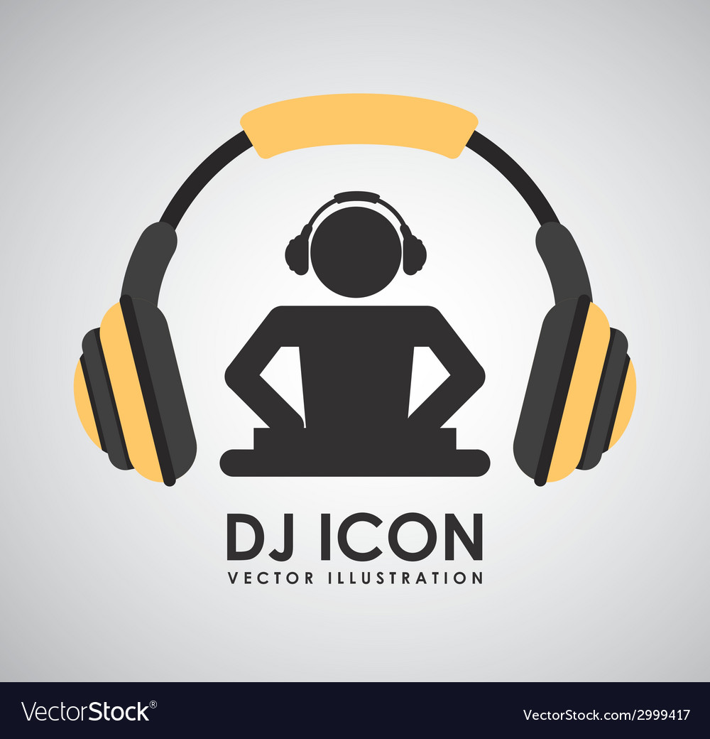 Dj icon design vector | Price: 1 Credit (USD $1)