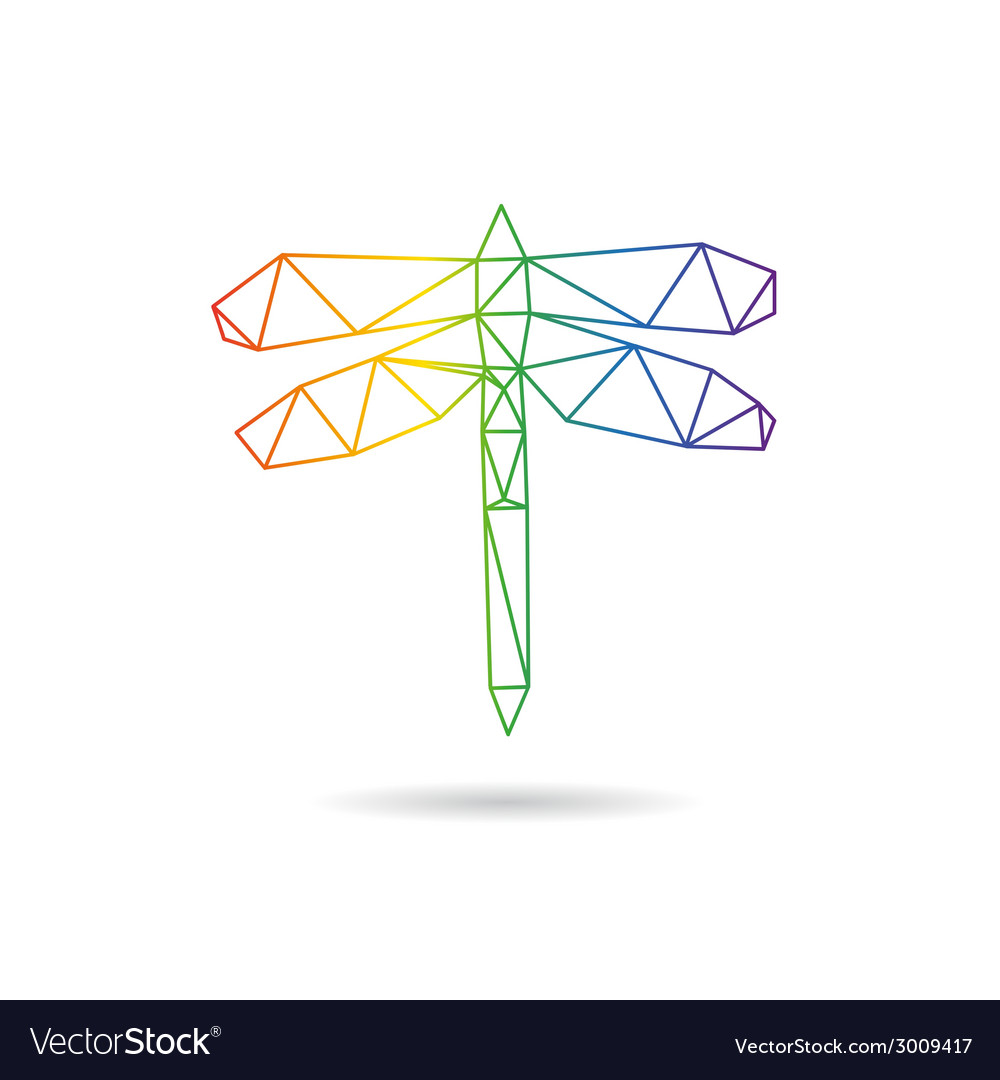 Dragonfly abstract isolated vector | Price: 1 Credit (USD $1)