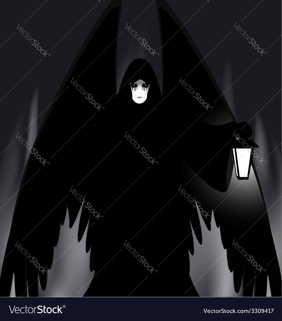 Gothic angel vector | Price: 1 Credit (USD $1)