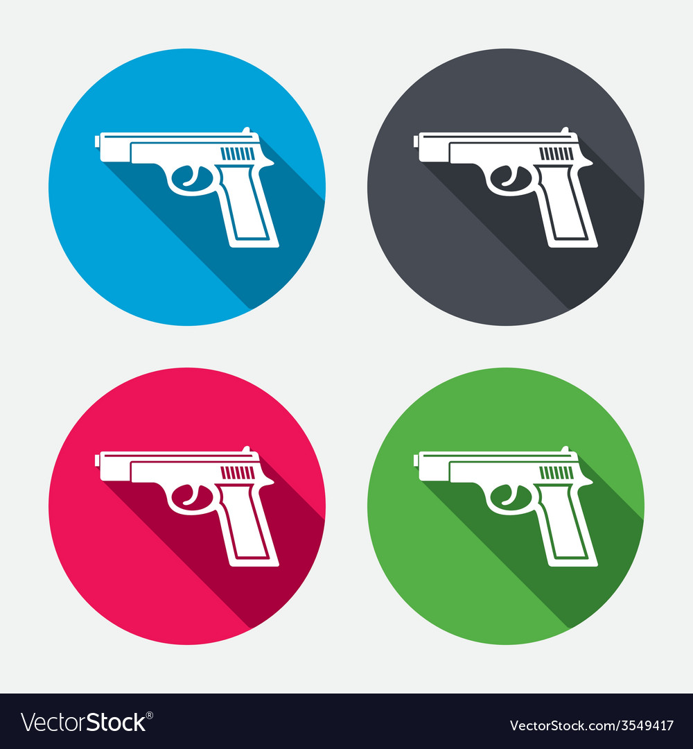 Gun sign icon firearms weapon symbol vector | Price: 1 Credit (USD $1)