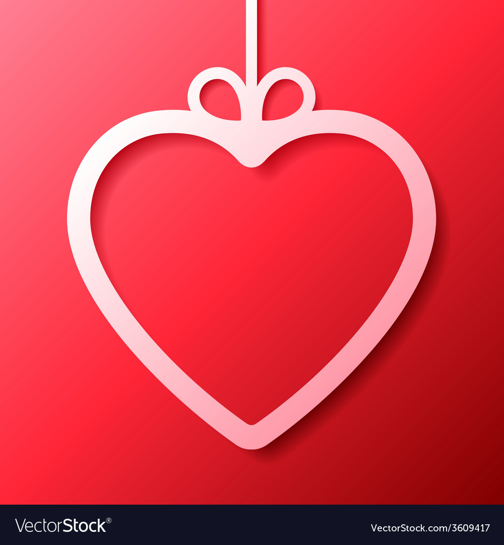 Heart shaped frame vector   Price: 1 Credit (USD $1)