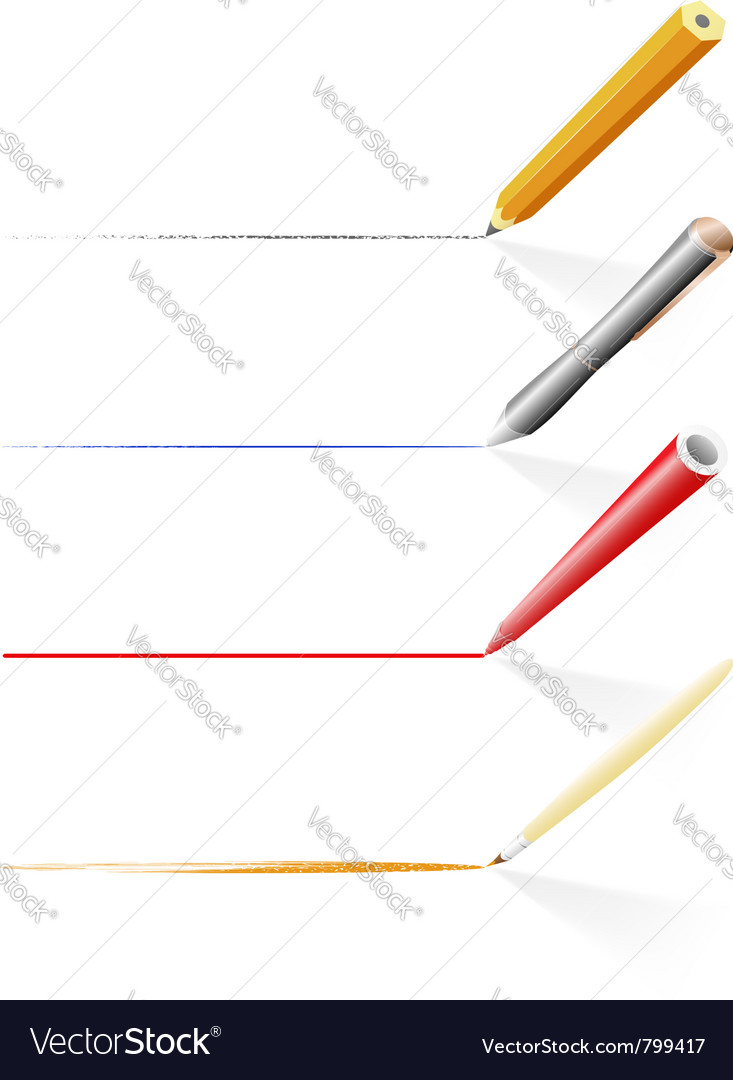 Pencil pen writing vector | Price: 1 Credit (USD $1)