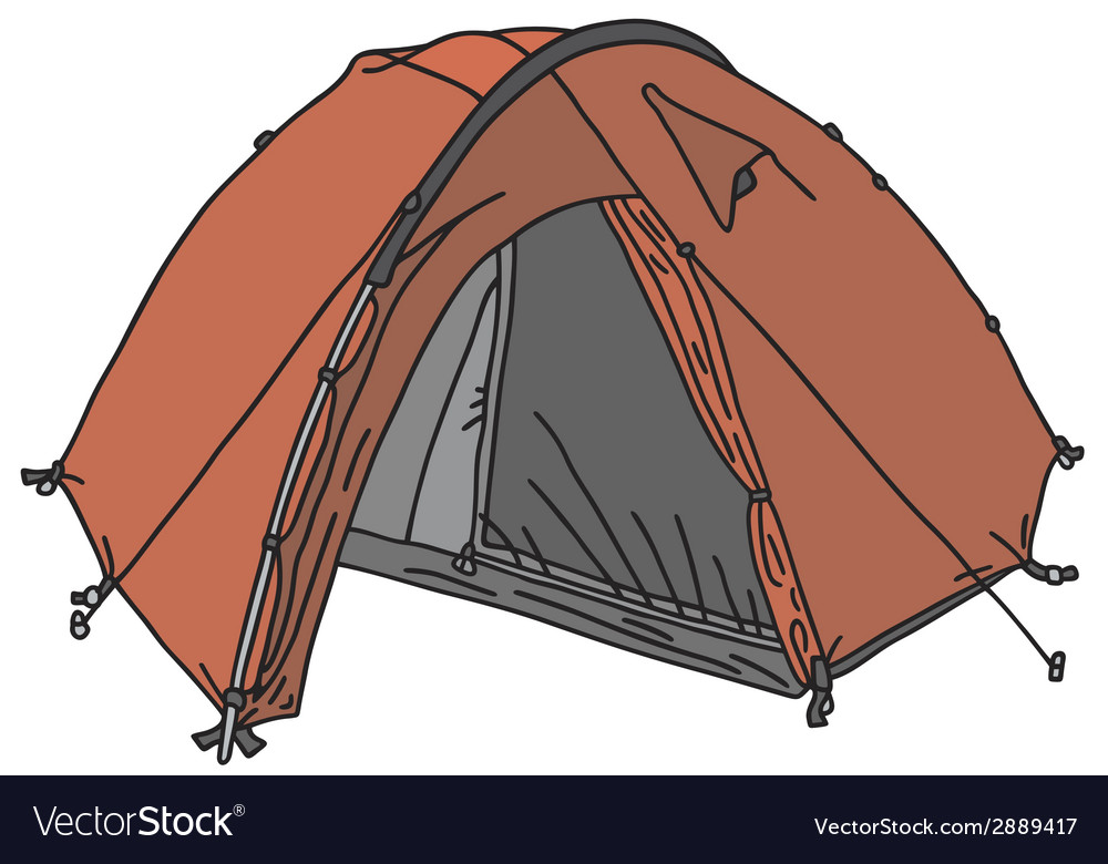 Red tent vector | Price: 1 Credit (USD $1)