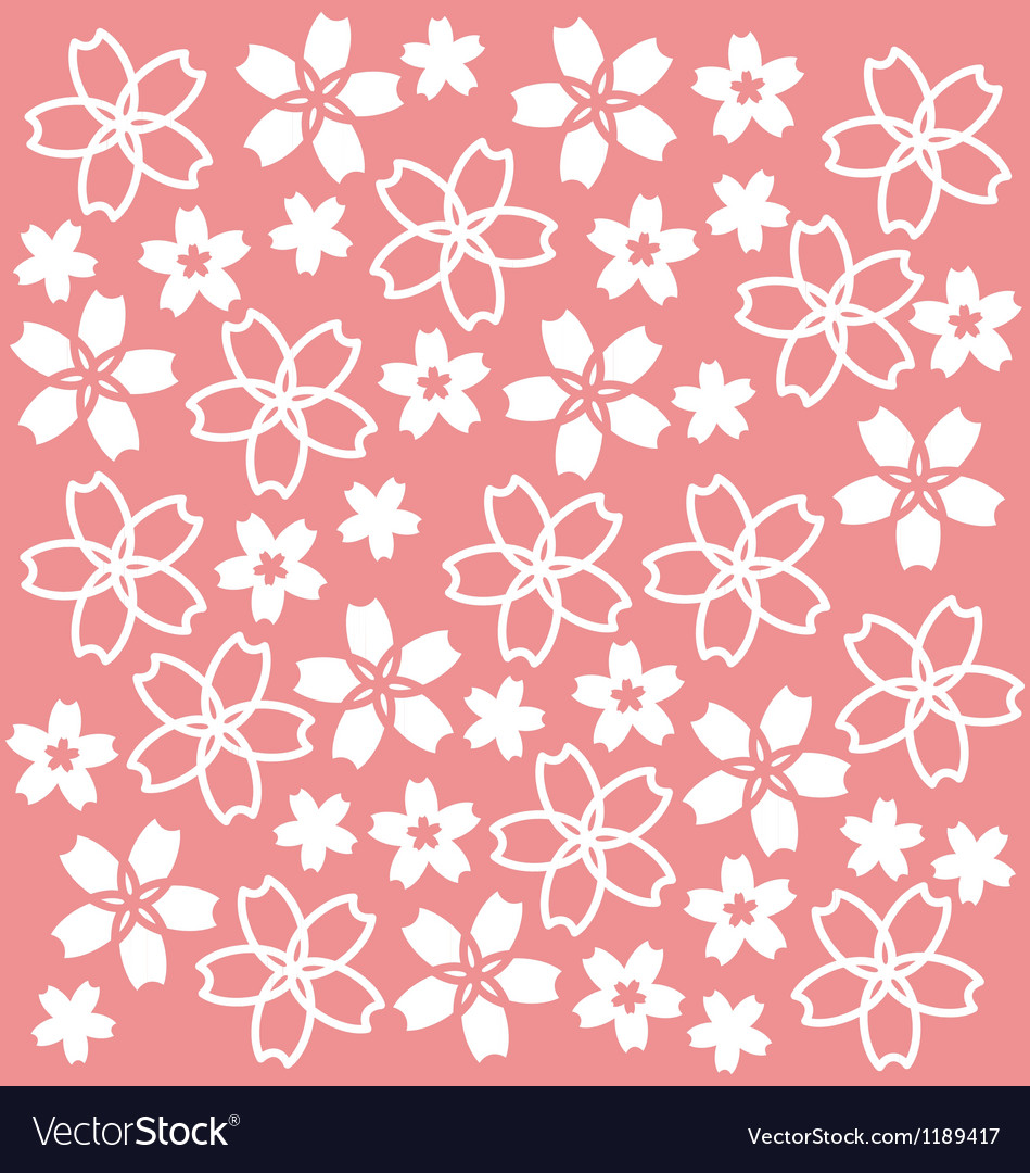 Sakura pattern vector | Price: 1 Credit (USD $1)