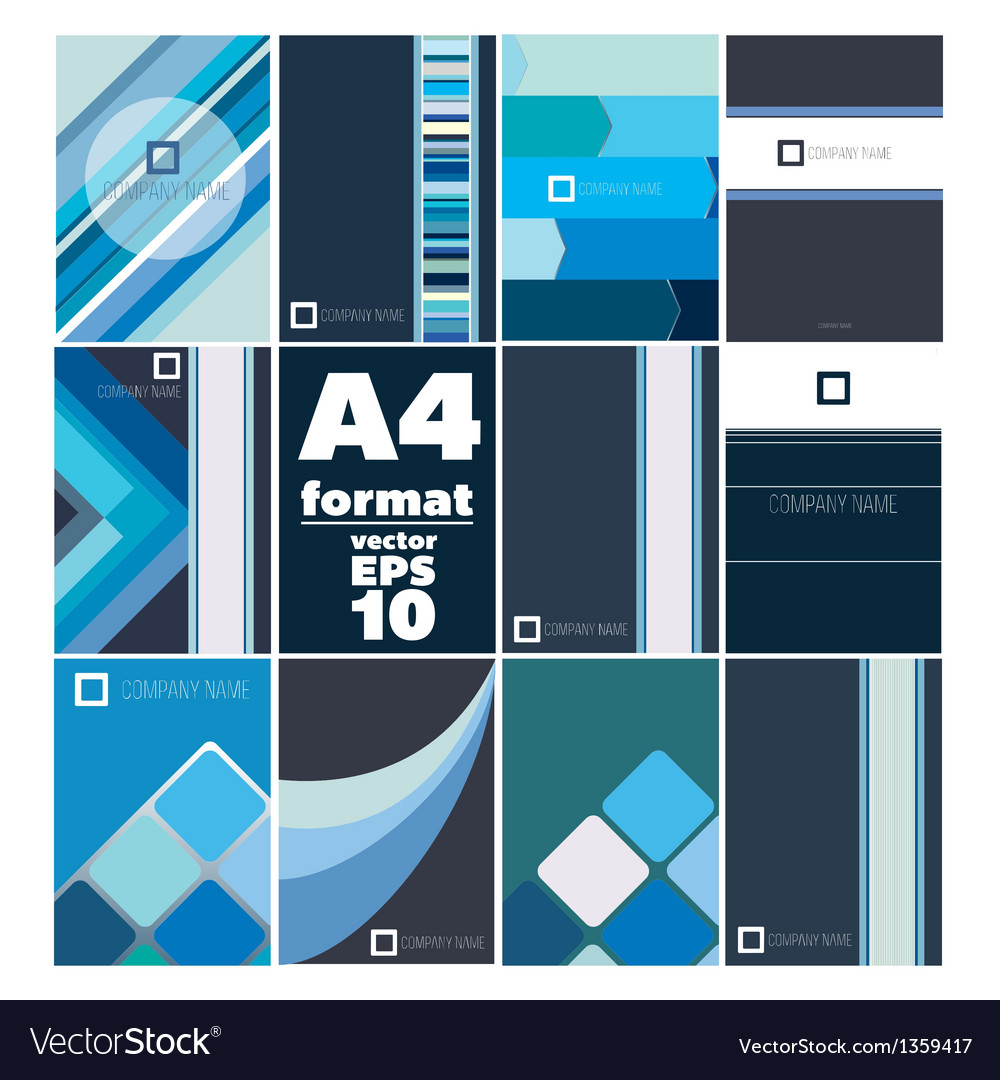 Set of folder a4 form vector | Price: 1 Credit (USD $1)