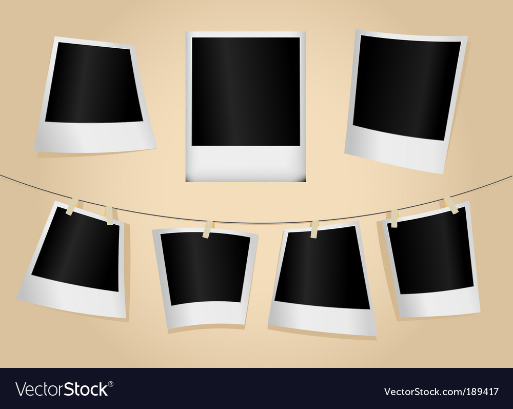 Set of photographs vector | Price: 1 Credit (USD $1)