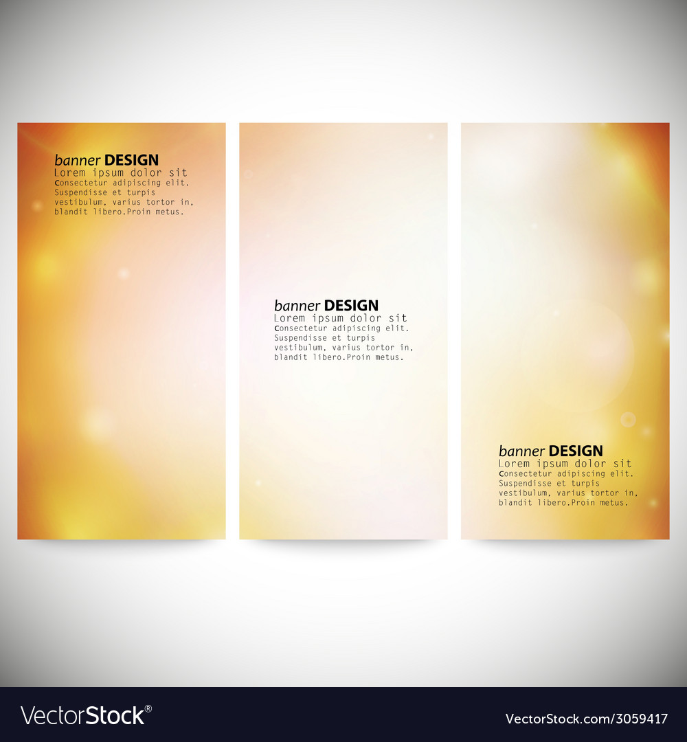 Set of vertical banners abstract multicolored vector   Price: 1 Credit (USD $1)