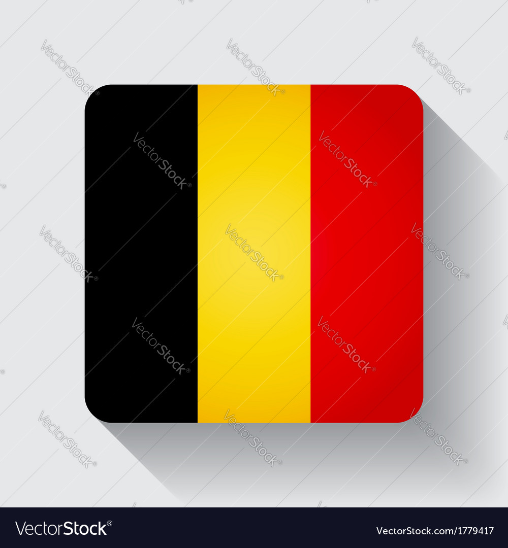 Web button with flag of belgium vector | Price: 1 Credit (USD $1)