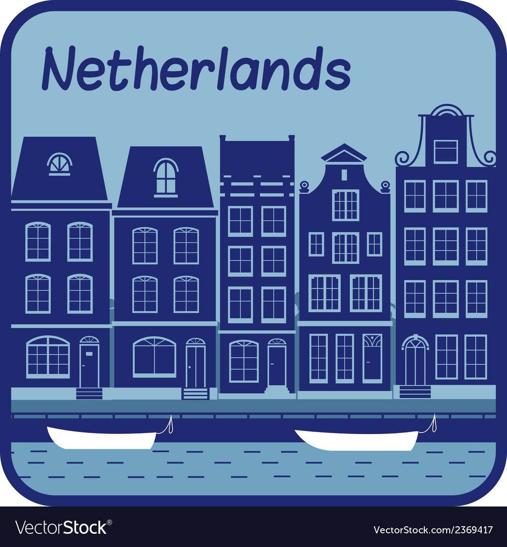With dutch house in holland vector | Price: 1 Credit (USD $1)