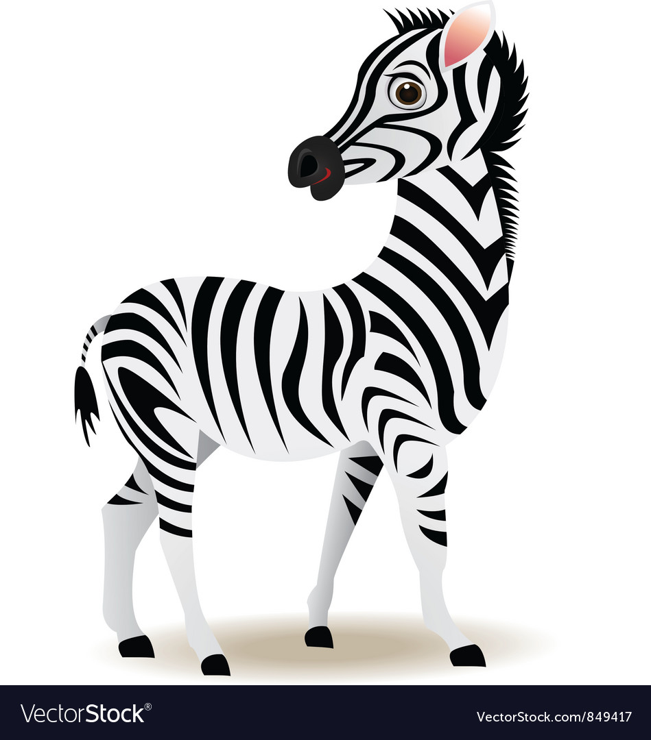 Zebra cartoon vector | Price: 1 Credit (USD $1)