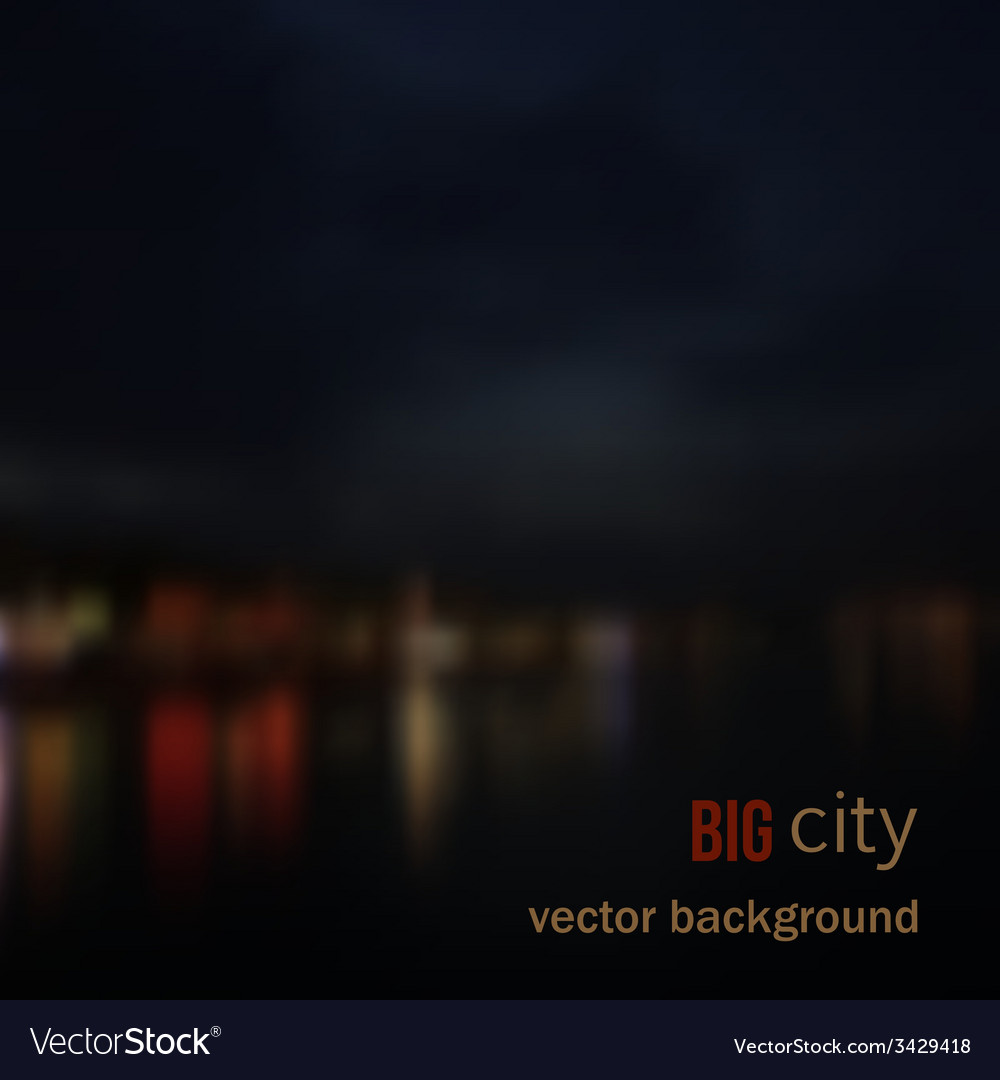 Blurred defocused lights of night city vector | Price: 1 Credit (USD $1)