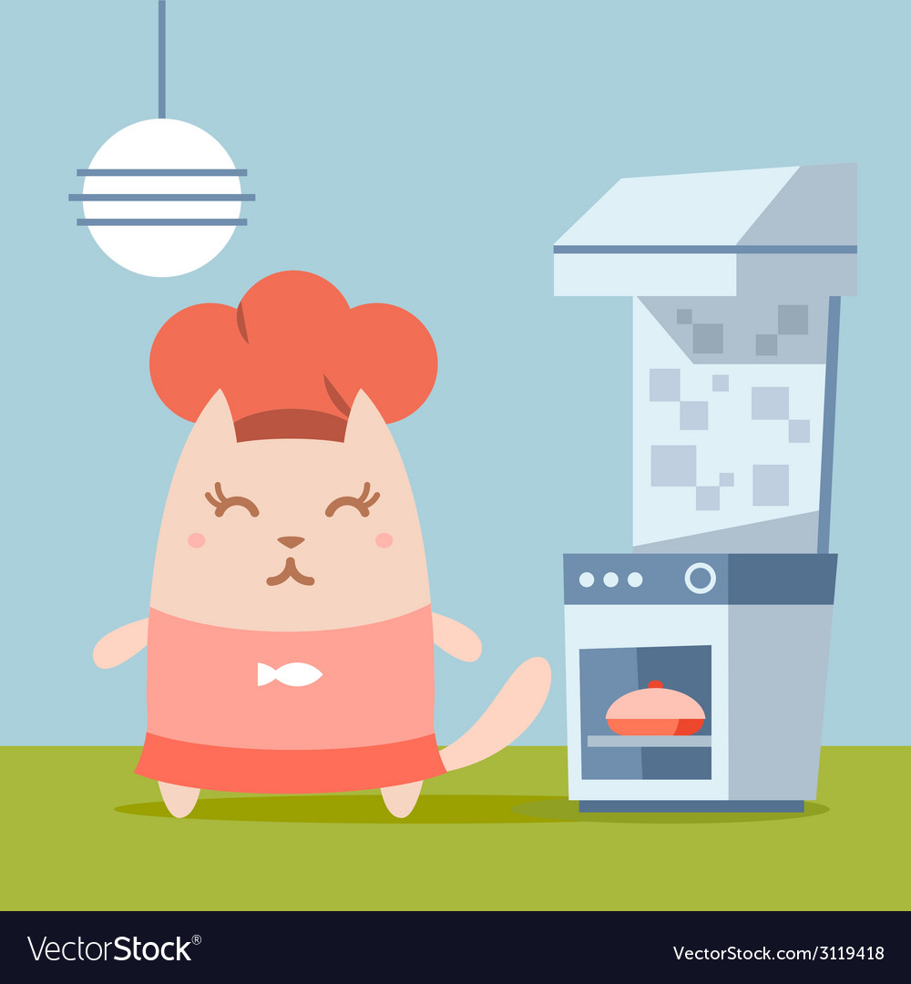 Character chef in a chefs hat colorful flat vector   Price: 1 Credit (USD $1)