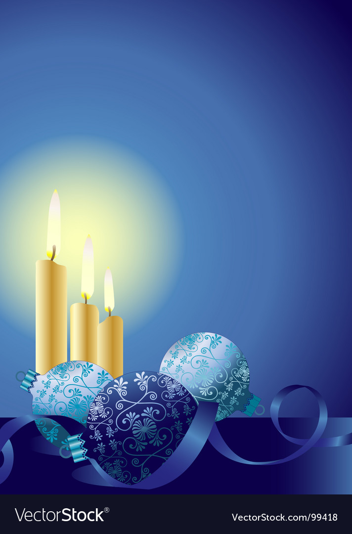 Christmas candles ornaments vector