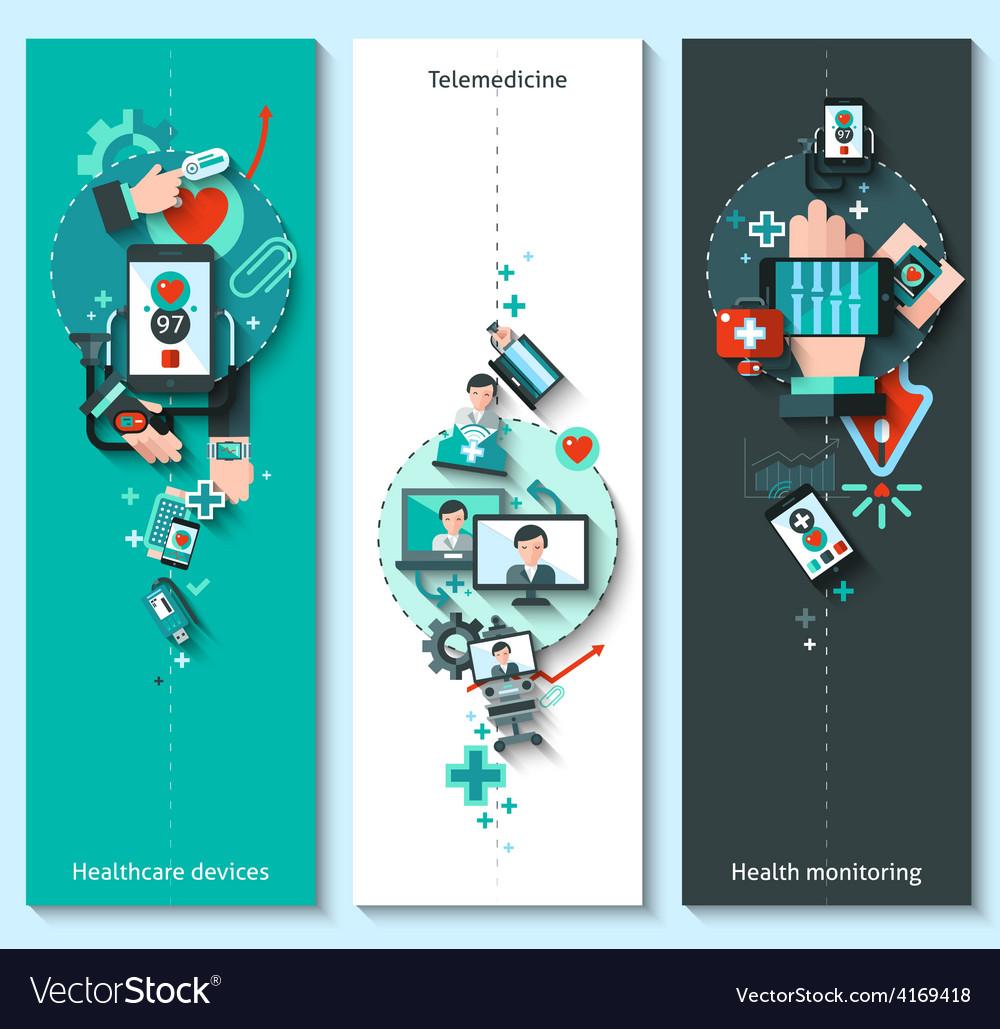 Digital medicine banners vertical vector | Price: 3 Credit (USD $3)