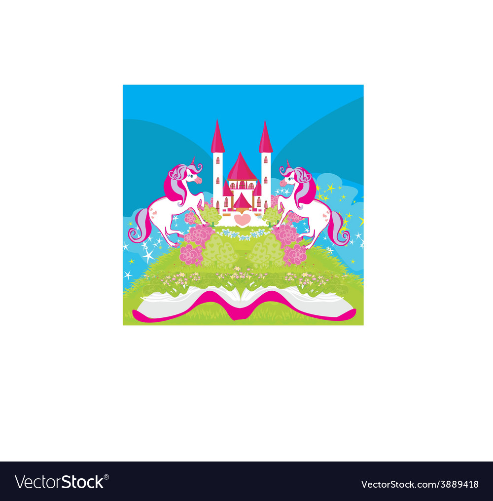 Fairy castle appearing from the book vector | Price: 1 Credit (USD $1)