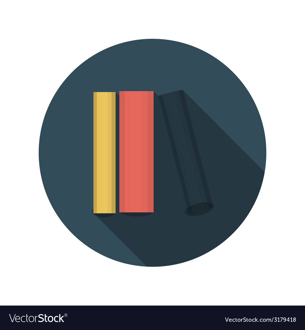 Flat design concept books with long shadow vector   Price: 1 Credit (USD $1)