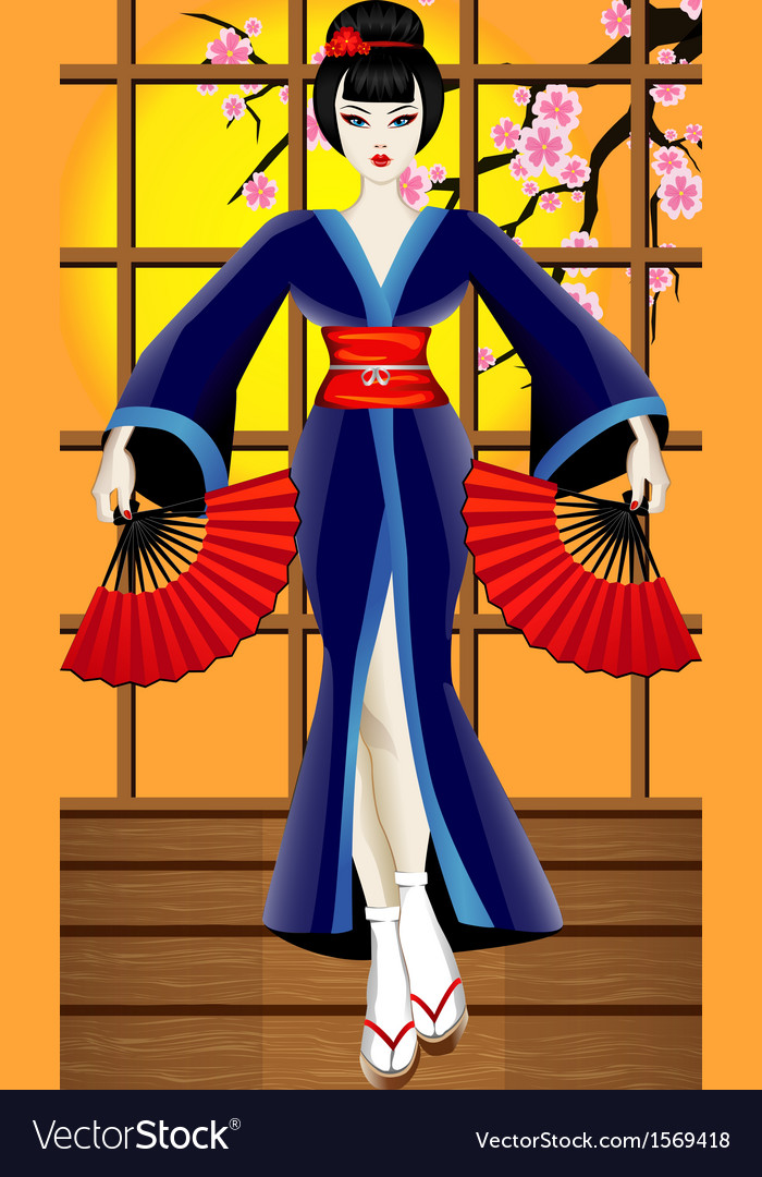 Geisha vector | Price: 1 Credit (USD $1)
