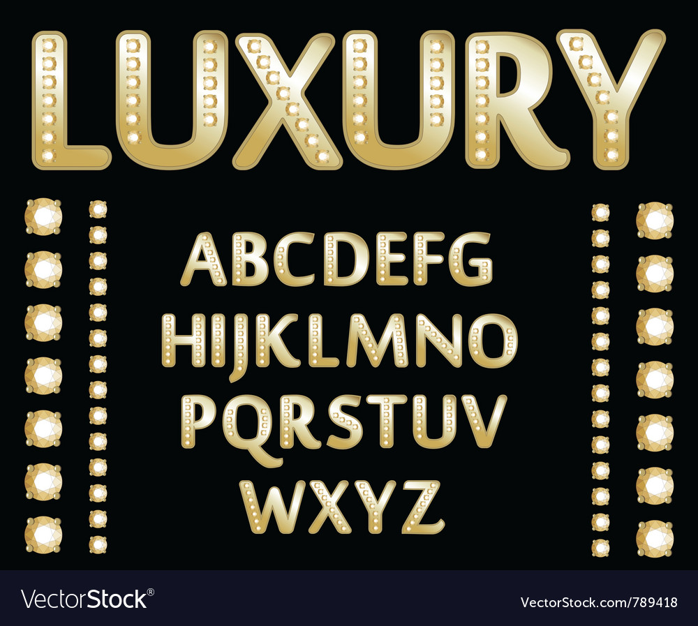 Gold alphabet vector | Price: 1 Credit (USD $1)