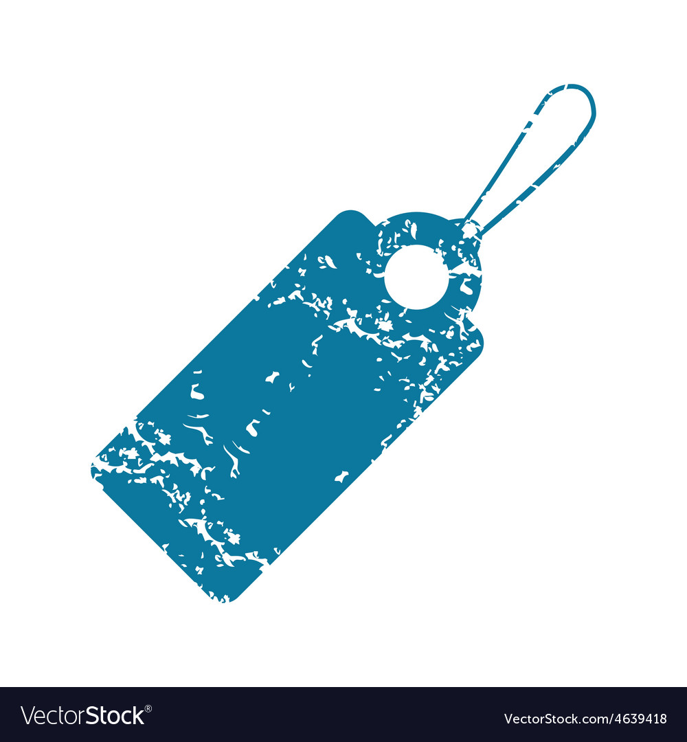 Grunge string tag icon vector   Price: 1 Credit (USD $1)