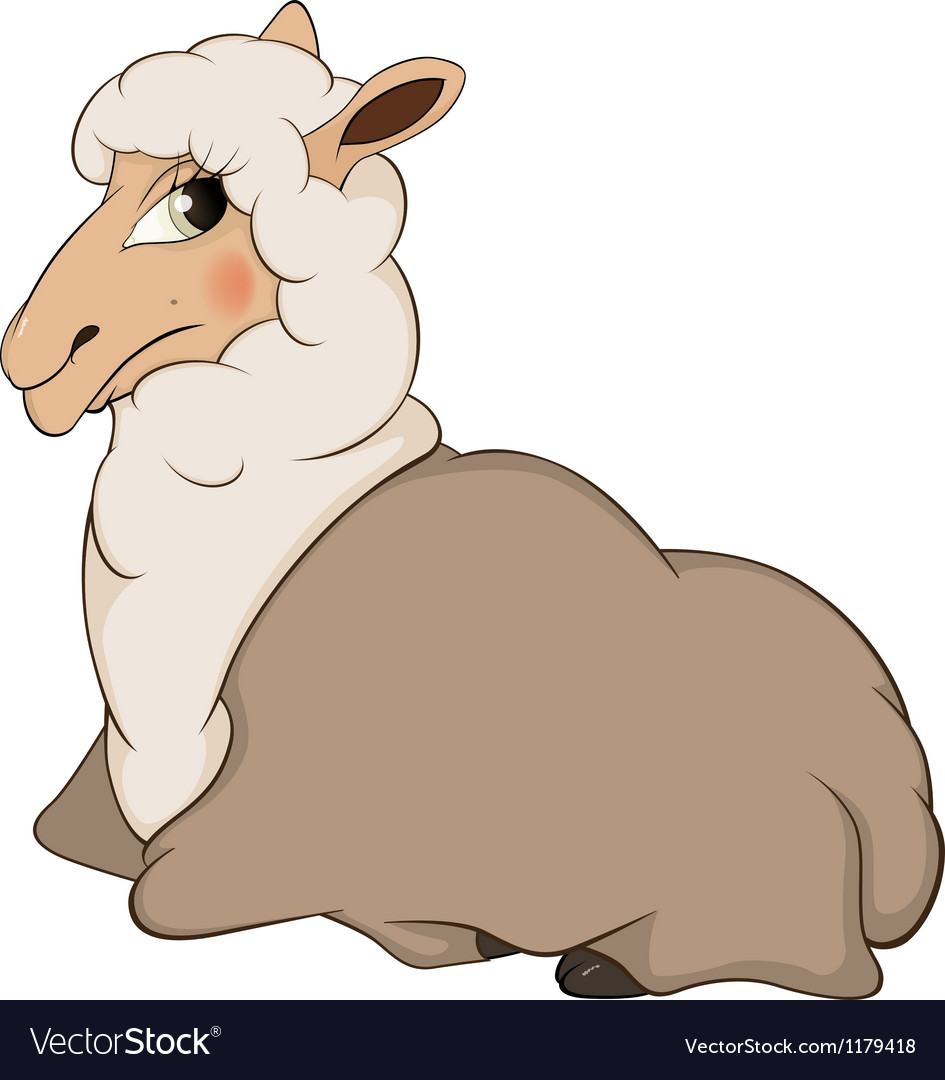 Lamb cartoon vector | Price: 3 Credit (USD $3)