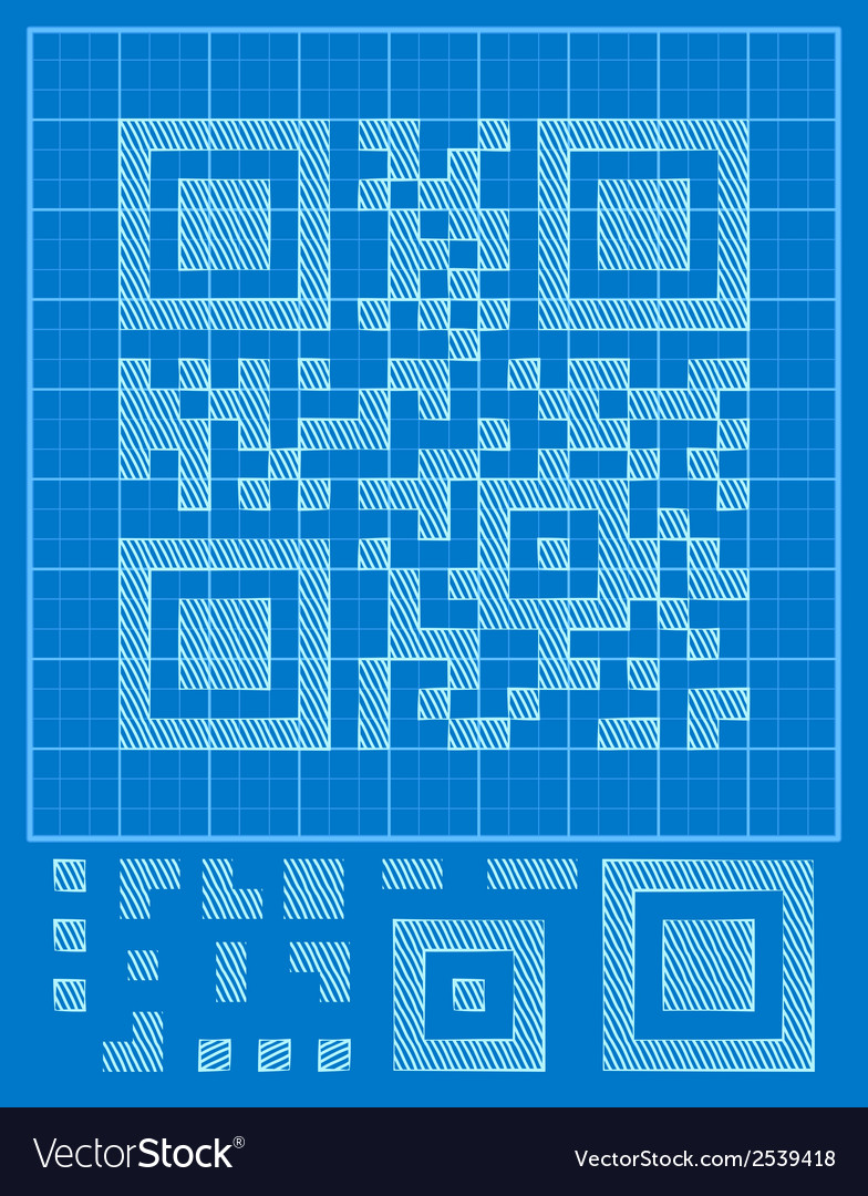 Qr-code vector | Price: 1 Credit (USD $1)