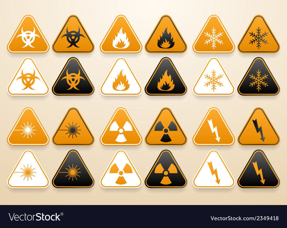 Set of warning signs vector   Price: 1 Credit (USD $1)