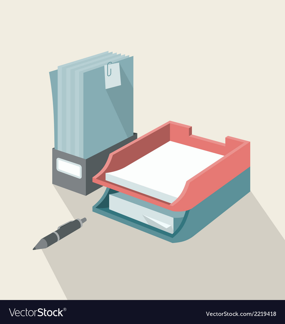 Trays for papers vector | Price: 1 Credit (USD $1)