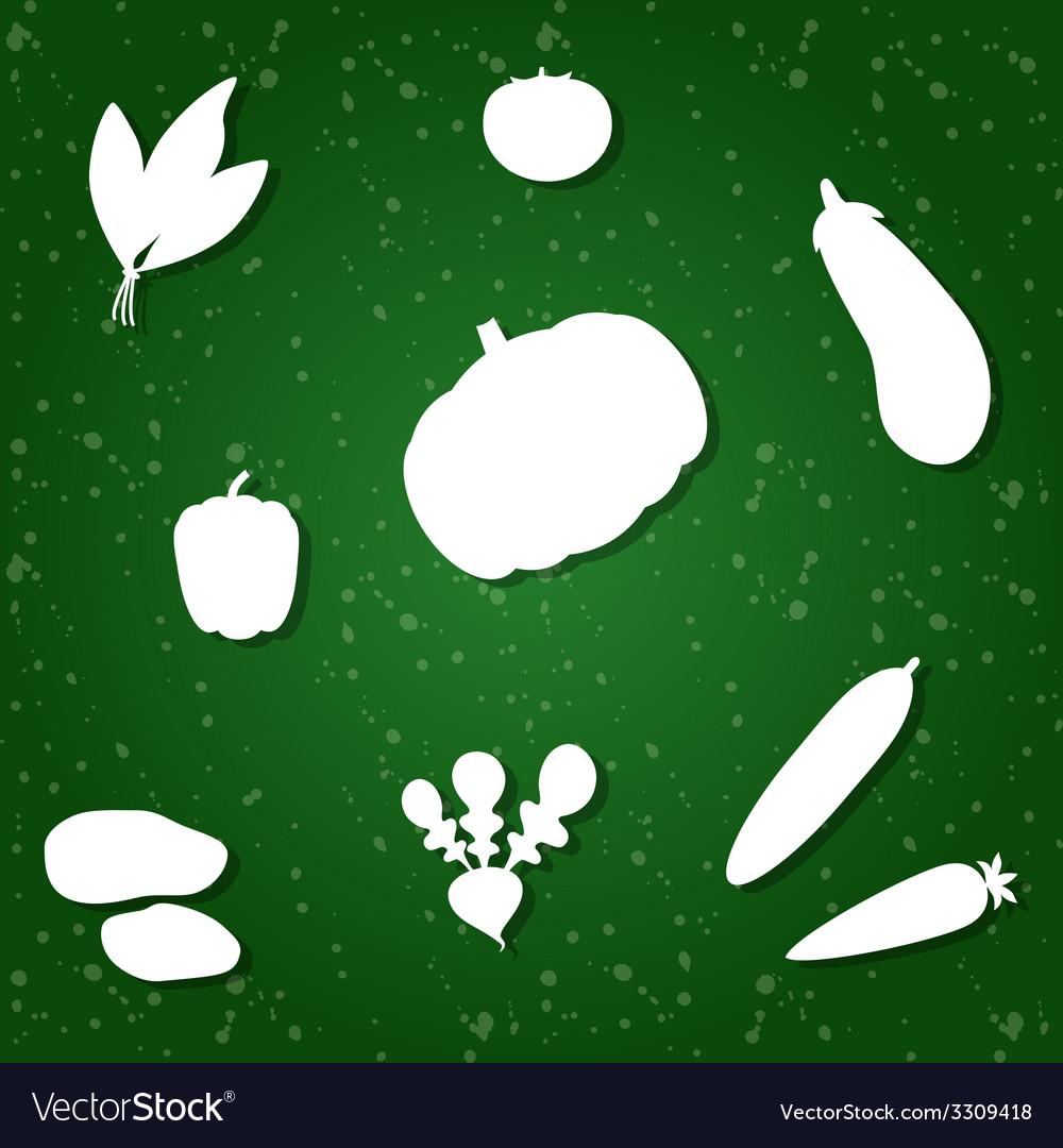 Vegetable pattern vector | Price: 1 Credit (USD $1)