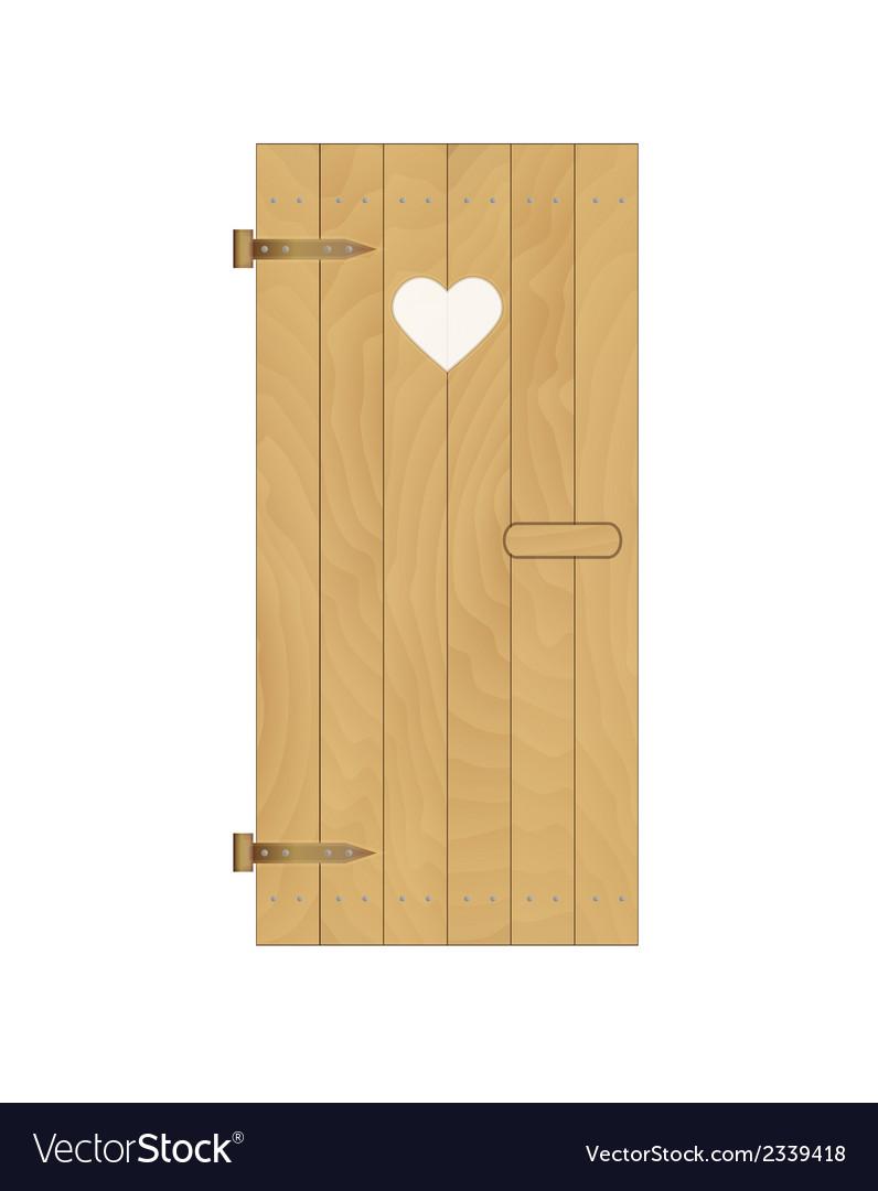 Wooden door with heart vector | Price: 1 Credit (USD $1)