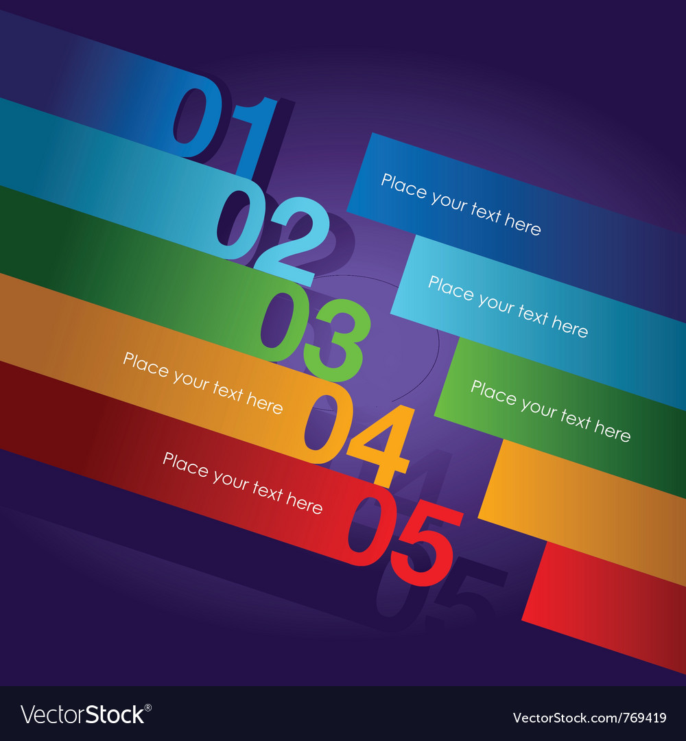 Abstract number line background vector | Price: 1 Credit (USD $1)