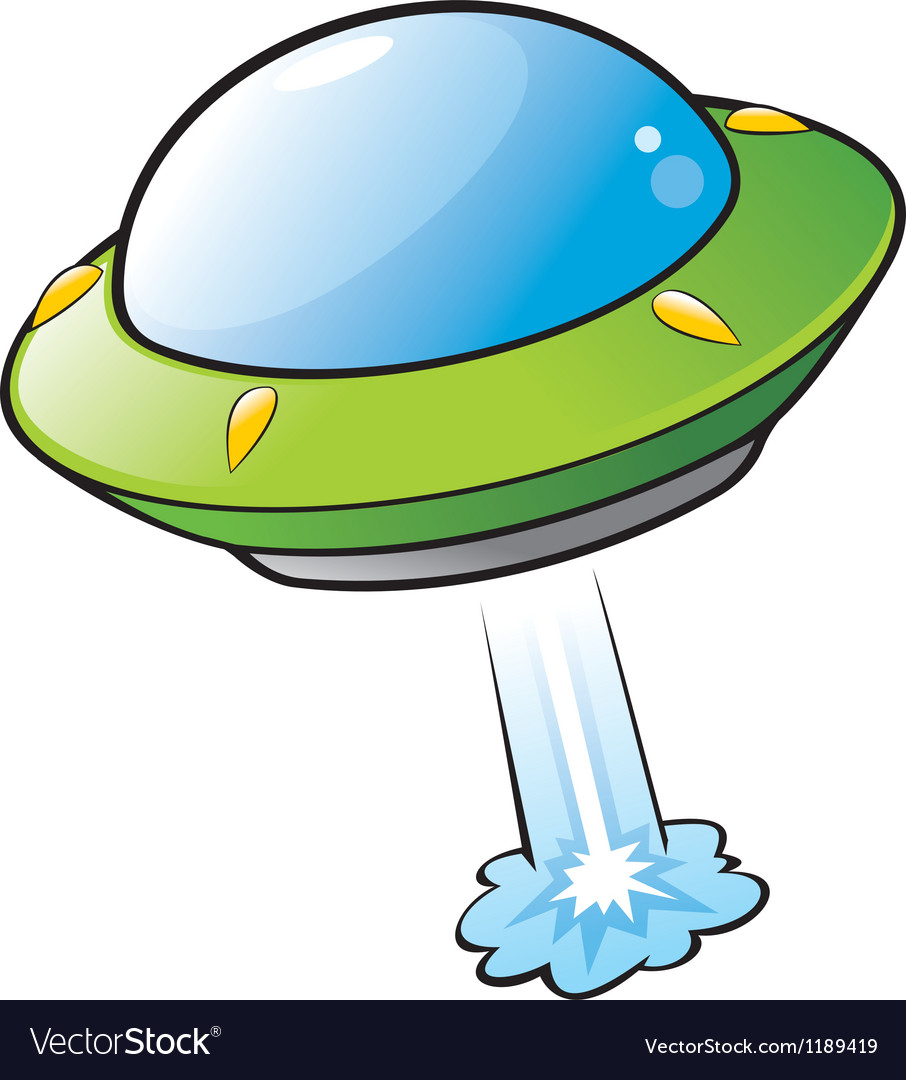 Cartoon flying saucer vector | Price: 1 Credit (USD $1)