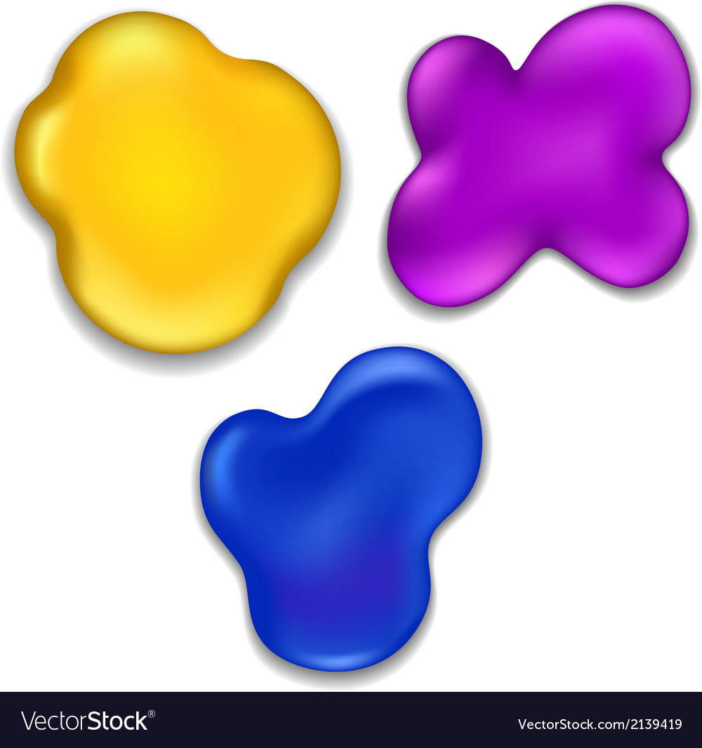 Colorful paint stains vector   Price: 1 Credit (USD $1)