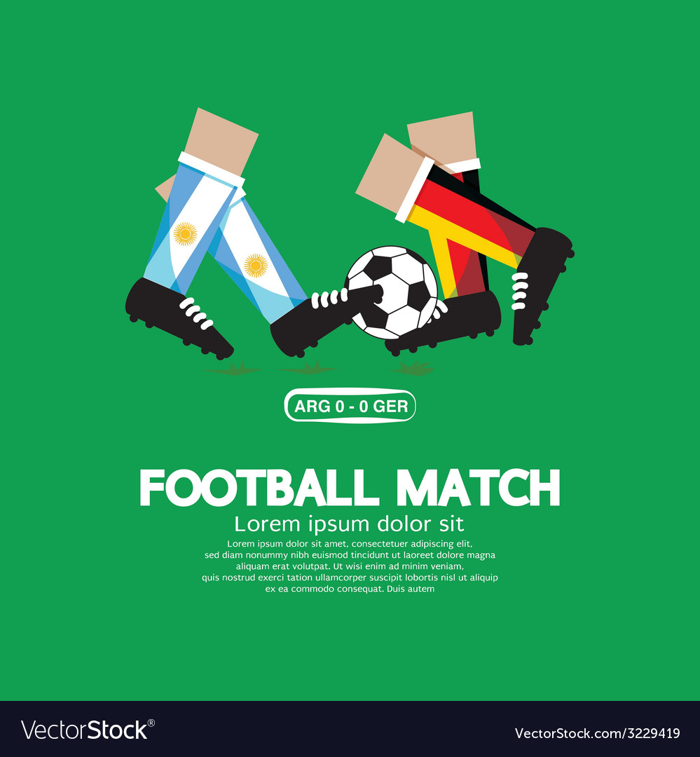 Football match eps10 vector | Price: 1 Credit (USD $1)