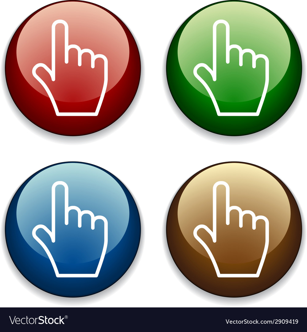 Hand buttons vector | Price: 1 Credit (USD $1)