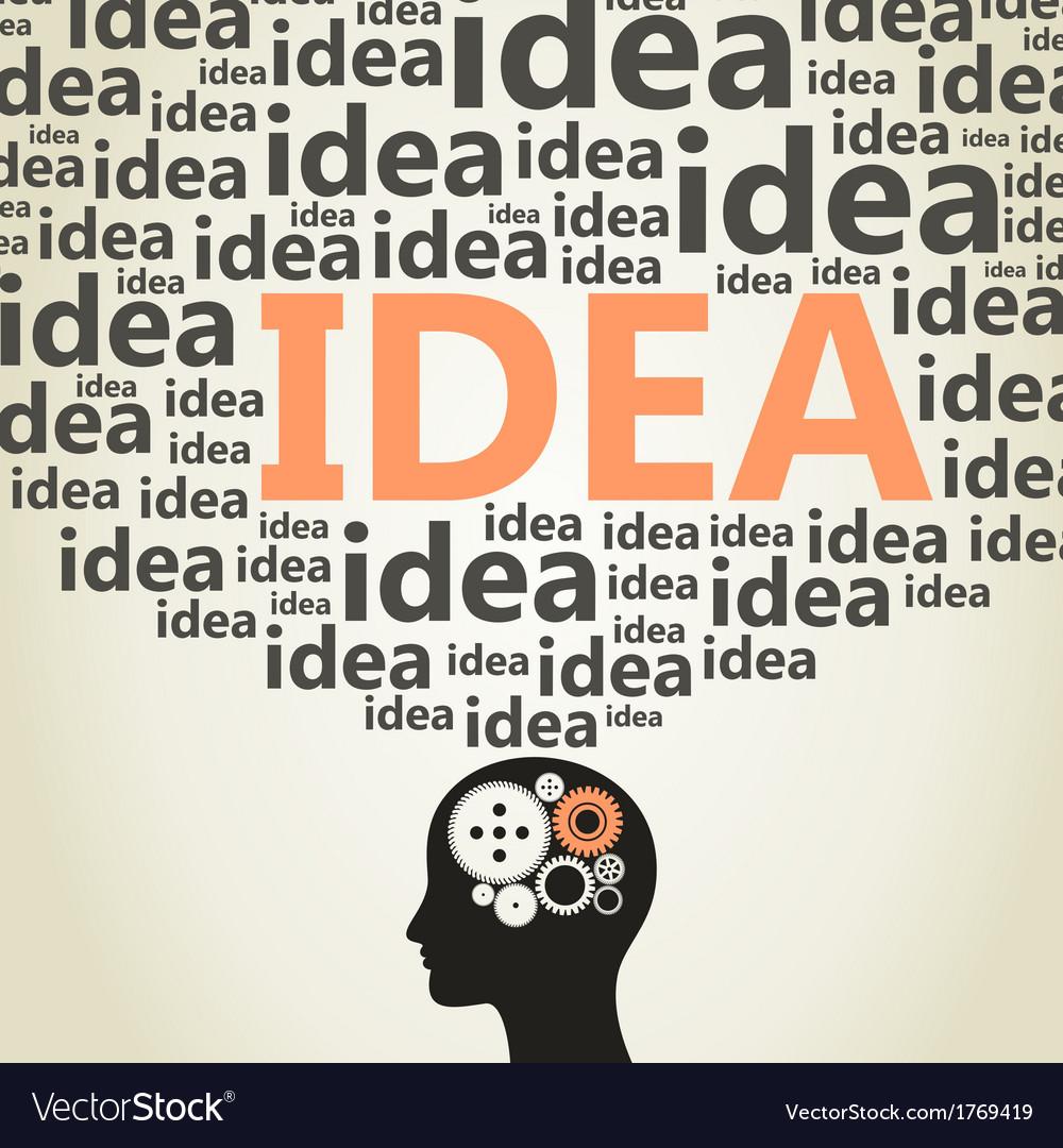 Head idea vector | Price: 1 Credit (USD $1)