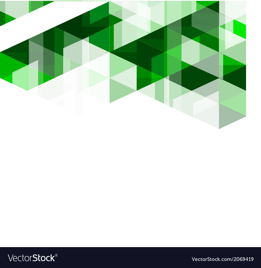 Modern green geometrical abstract template vector | Price: 1 Credit (USD $1)