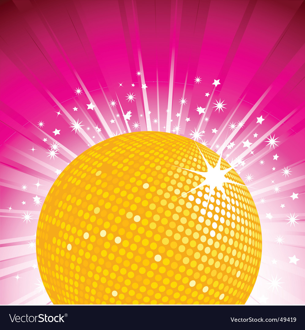 Orange disco ball party background vector | Price: 1 Credit (USD $1)