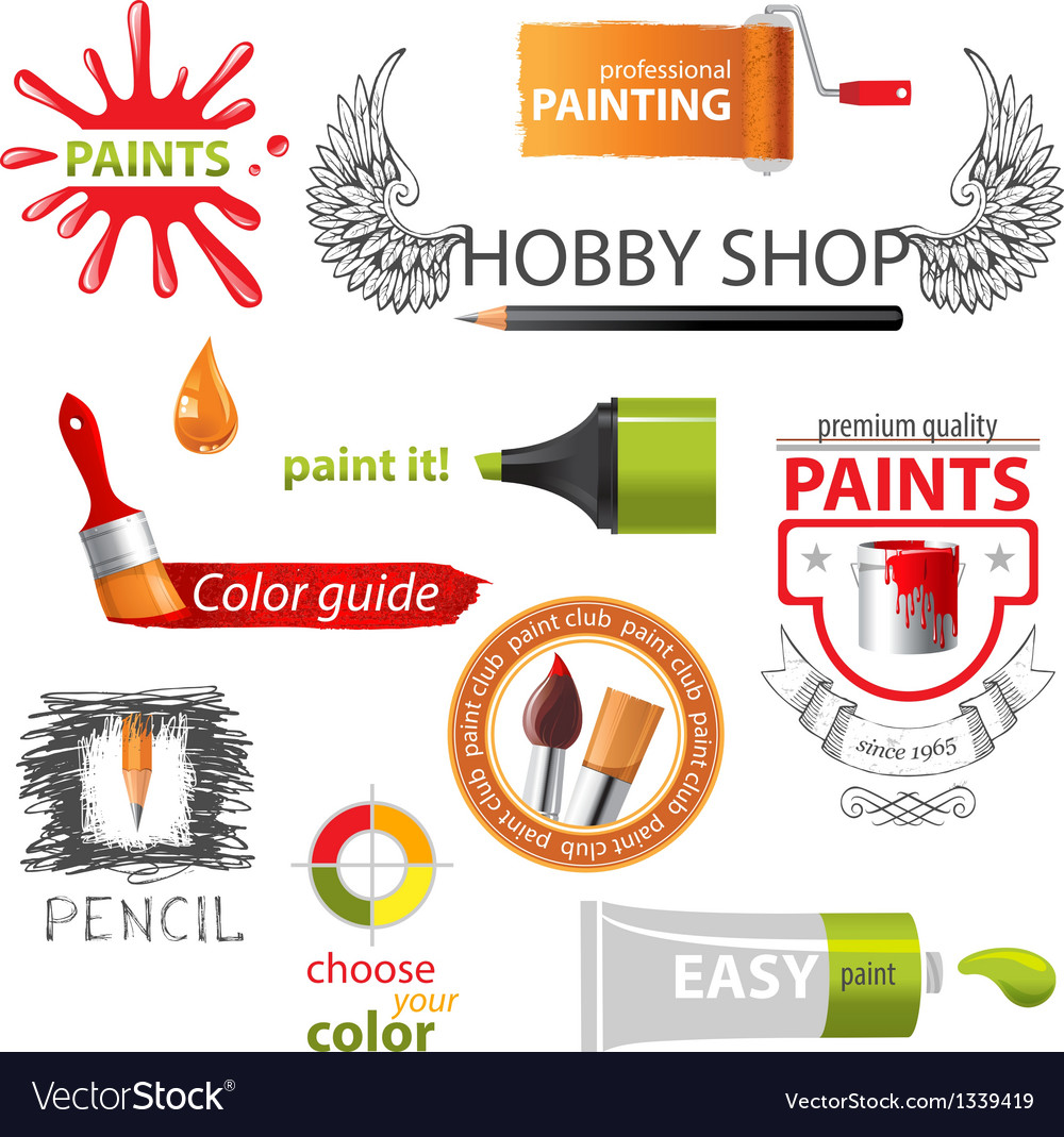Paint emblems vector | Price: 1 Credit (USD $1)
