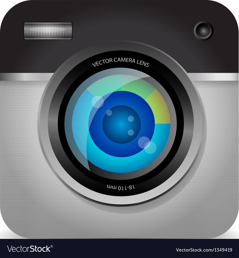 Photo camera app icon vector | Price: 1 Credit (USD $1)