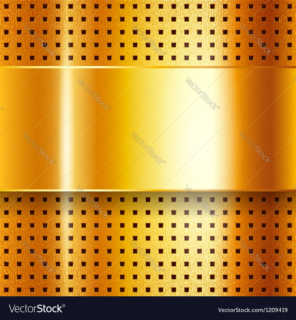 Scratched on gold chrome background vector | Price: 1 Credit (USD $1)