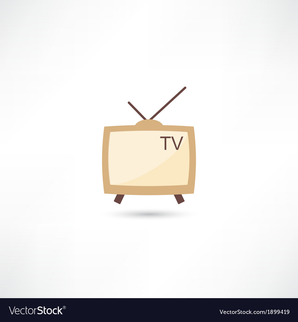 Television retro vector | Price: 1 Credit (USD $1)